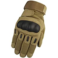 Cvthfyk Tactical Training Full Finger Gloves Deportes al Aire Libre Fitness Guantes Mountaineering Gloves (Color : Wolf Brown, Size : M)