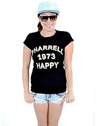 Pharrell Williams-1973- happy- HIP-HOP T-SHIRT