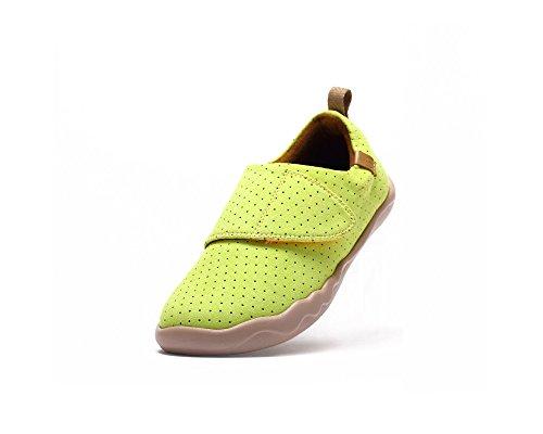 UIN chaussure colorée de peinture de Toledo microfibre des enfants (enfant grand) Jaune