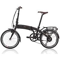 "FISCHER E-Bike Faltrad, Schwarz, 20"", Hinterradmotor 36 V/ 317 Wh, Shimano-Schaltung, rahmenintegrierter Akku"