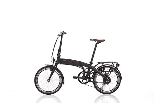 "Fischer E-Bike Faltrad, Schwarz, 20\"", Hinterradmotor 36 V/317 Wh, Shimano-Schaltung, rahmenintegrierter Akku"