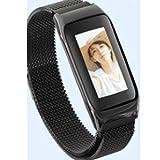 LGF Helmet Sport-Unternehmen Smart Armband Blutdruck-Herzfrequenz-Fitness-Tracker erhöhen Handlicht-Scheinwand weiblich Erwachsene maleintelligente Band,Black