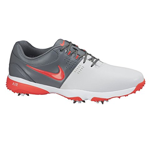 Nike Herren Air Rival III Golfschuhe, Plateado/Rojo/Gris (PR Pltnm/Brght Crmsn-CL Gry-WH), 42 EU (Nike Schuhe Tasche Golf)