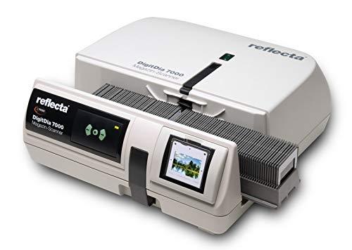 Reflecta DigitDia 700010000x 10000dpi schwarz, weiß–Scanner (36,5x 36,5mm, 10000x 10000dpi, 48Bit, Schwarz, Weiß, CCD (DISPOSITIF à Charge-Transfer), LED)