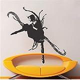 56X98cm Danse Studio Vinyle Stickers Muraux Artistique Conception Sticker Décor Filles Chambre Amovible Chaud DIY Art Papier Peint Affiche