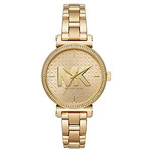 Michael Kors Damen Analog Quarz Uhr mit Edelstahl Armband MK4334