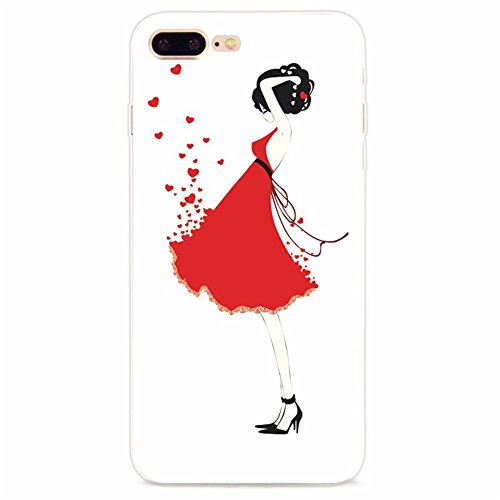 Coque iPhone 7 Plus, Vanki® Absorption des chocs Ultra Mince TPU Bumper Protection Goutte,aux rayures pour iPhone 7 Plus-Fashion girl 12