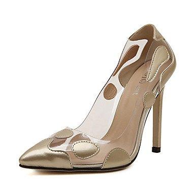 Moda Donna Sandali Sexy donna tacchi tacchi estate pu Casual Stiletto Heel altri di rosso / Argento / Oro Altri golden