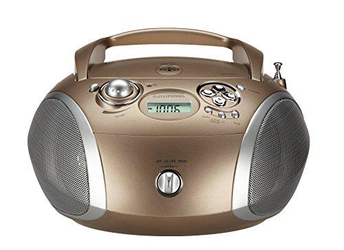 Grundig GRB 2000 Tragbare Radio Boombox travertin/silber