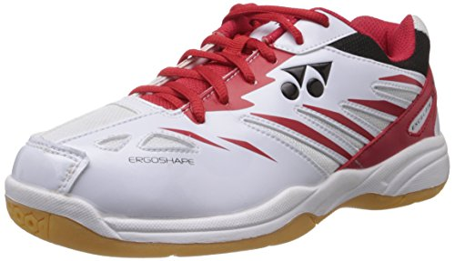 Yonex Excel FI M Badminton Shoes, UK 7 (White/Black/Red)