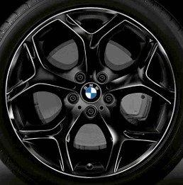 BMW originale cerchioni in alluminio X5E70/LCI Y ha parlato 214NERO IN 20pollici per la parte posteriore