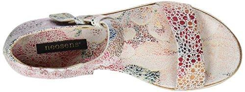 Neosens S505 Fantasy Floral White Cortese, Sandali con Piattaforma Donna Multicolore (Floral White)
