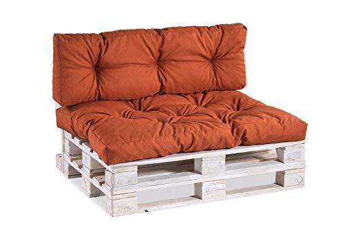 Palettenkissen Palettenauflagen Sitzkissen Rückenlehne Gesteppt PP (Sitzkissen 120x60 gesteppt,...