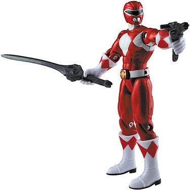 Power Rangers Megaforce 10cm Metallic Force Figur - Mighty Morphin' Roter Ranger [UK Import] (Red Power Ranger Spielzeug)
