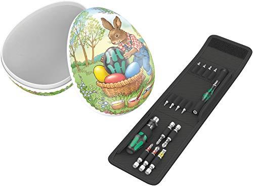 Wera Osterei 2020 Ostergeschenk mit Werkzeug-Set, 15-teilig