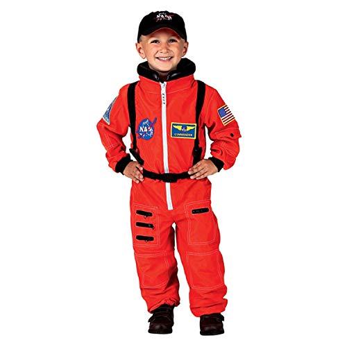 Kostüm Aeromax - Aeromax Jr.Kostüm, mit NASA-Aufnäher und Druckknöpfen für Windelzugriff.