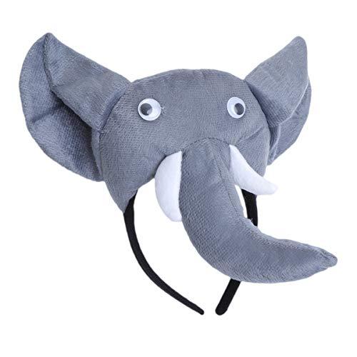 Amosfun Elephant Headband Headpiece mit Nase und Ohren Tierkopfschmuck Elephant Party Outfit Dekoration Set für Kinderparty