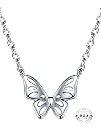 Young & Forever Mothers Day Gifts Timeless Treasure 925 Sterling Silver Butterfly Pendant Necklace