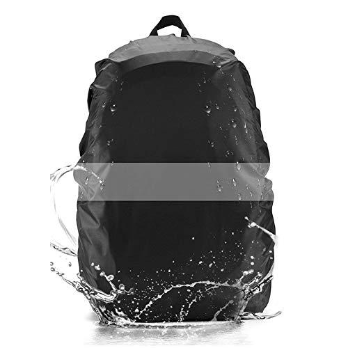 Domserv Cubierta Impermeable para Mochila, Fundas Cubiertas De Mochila, 35L Nylon Mochila Protector De Lluvia Impermeable con Rayas Reflectante, para Camping, Escalada, Senderismo(30L-40L)