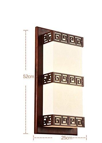 Neue Antik-weiß Lackiert Holz (Zhang Yan ZYY/Moderne Chinesische Nachttischlampe aus massivem Holz Antike Balkon Wohnzimmer Schlafzimmer Lampen Neue Chinesische Art Geschnitzte Nachttischlampe (Farbe: # 1))