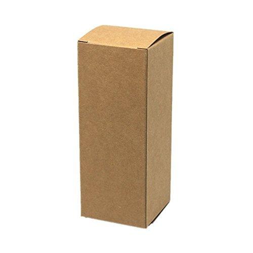 BAT Pack 50 Pieces 30ML 1.41 x1.41 x3.54 (3.6x3.6x9cm) Retro Cardboard Kraft Paper Boxes Kraft Paper Box For Little Cosmetic Samples Mascara Cream Bottle Pack