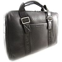 Fin de semana del bolso de cuero 'Ted Lapidus' brown vintage.