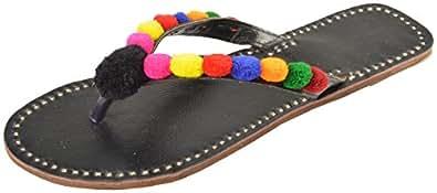Punjabi Fancy Jutti Women's Leather Juttis - 12 US