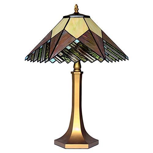 Neue Tiffany Style Tischlampe Zinklegierung Basis Bunt Glas Designer Tischlampe Wohnzimmer Schlafzimmer Schreibtischlampe 110V-220V E27x2 Dekoration Store Light 16 Zoll Leselampe (Ohne Glühbirne),220V