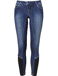Mountain Horse Jeans Pantalon d'équitation Jamie Denim–Garniture