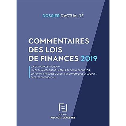 COMMENTAIRES LOIS DE FINANCES 2019: Loi portant mesures d urgence économiques et sociales