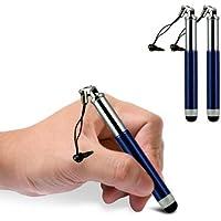 C63Apple iPhone 3G doppia mini retrattile penna capacitiva regolabile con funzione tattile–blu scuro