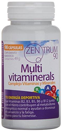 Complejo vitamínico con minerales, vitamina C, vitaminas B2, B3, B5, B6 y B12 y hierro - Multivitamínico para combatir el cansancio, la fatiga y aumentar el bienestar de tu cuerpo (90 cápsulas)