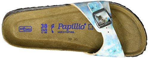 Papillio Madrid Birko-Flor Softfootbed, Mules Femme, Pixel Rose Mehrfarbig (Pixel Blue Soft)
