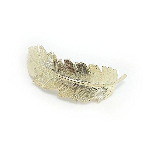 Meilliwish Métal Feuille perle Femmes Filles Pince à cheveux (C33)