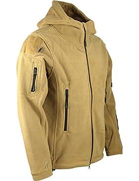 Kombat UK Forro polar militar con capucha, diseño de misión de reconocimiento, hombre, Recon Tactical, Coyote/...