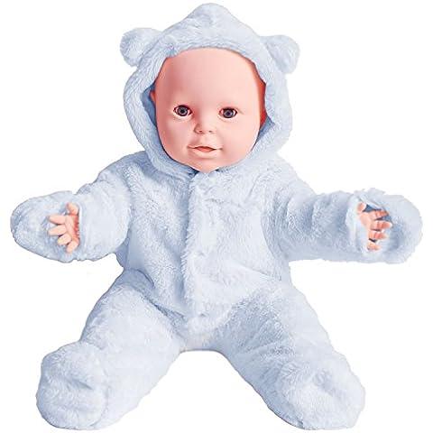 SUOLANDUO, colore: Blu Baby corpo intero con peluche e interno