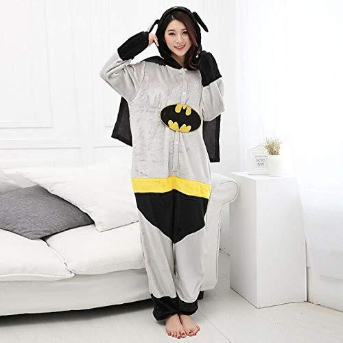 Zyoyotoy Hyococ Combinaison Pyjama en Forme de Serpent pour Adulte Vert, Coton, Batman, Taille M