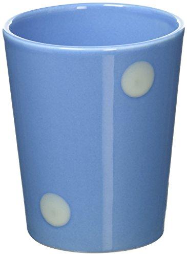 ECP DESIGN Tasse aus Steingut, gepunktet, Punkte, Classic blau