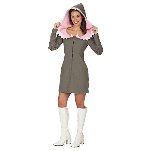 Weißer Hai Kostüm für Damen - Gr. 44 46