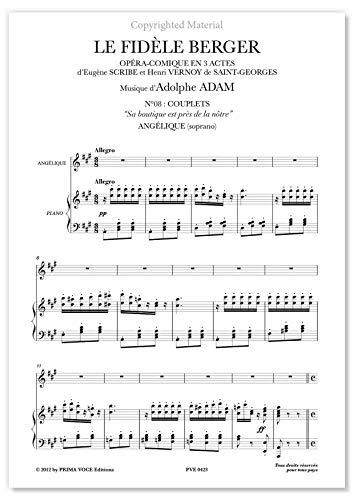 """Adam, Adolphe • FIDÈLE BERGER (LE) • """"Sa boutique est près de la nôtre"""" (soprano)"""