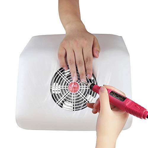 POWER BANKS Aspirador de uñas Máquina de Polvo Almohada de Mano 45W Aspirador de Ventilador único...