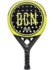 Image of NZI BCN corporative Padel Tennis Racquet, Unisex Adult, Yellow/Black, One Size - Comparsion Tool