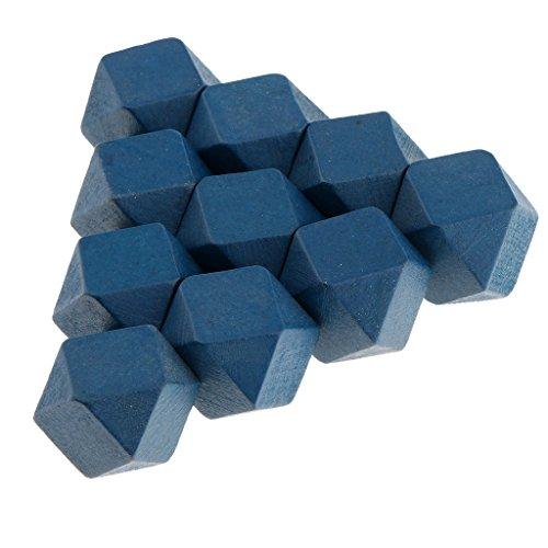 MagiDeal 10 Stücke Holzwürfel Holzblöcke zum Basteln und Handwerken DIY Decko 20mm - Blau