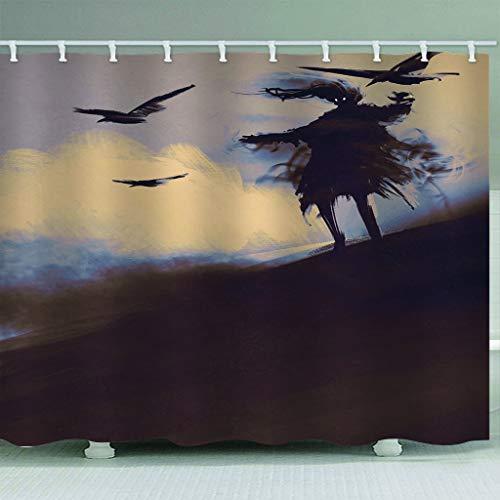 3D Duschvorhänge Vogel Monster Horror Waschbar Stoff Fabrik Wohnaccessoires 12 Haken-180(W) X180(H) cm