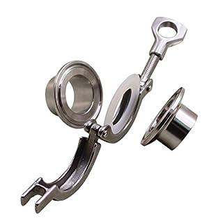 AIICIOO 1 1/2 Zoll Sanitär Fitting Set SUS304 Tri-Clamp (Tri-Klee) + 2 Stück Sanitär Rohr Weld Ferrule + Silikonring (1.5 Zoll)