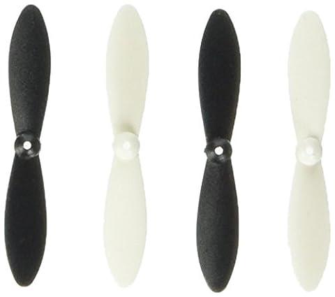efaso Ersatzteil Revell Nano Quad 43968 / 44168 - 5 x Rotorblätter in schwarz/weiß oder rot/weiß - Passend für Nano Quad 23970 / 23971 und Nano Quad Pro 23965 (schwarz/weiß)