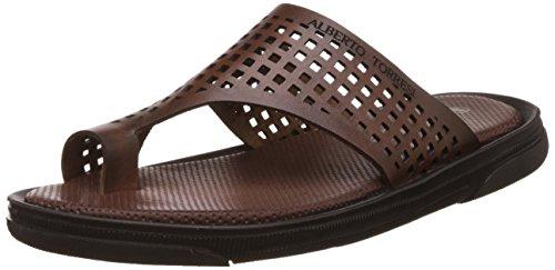 Alberto Torresi Men's Vasley Leather Hawaii Thong Sandals