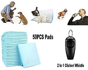 GadgetcKing 50 Grandes Protections Chiot + 2 in 1 Sifflet de Dressage pour Animaux domestiques pour Chien dresseur