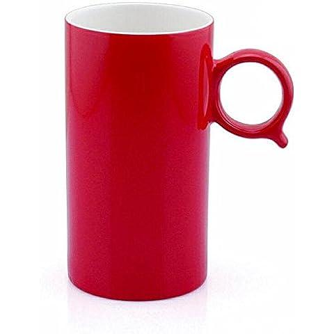 GUO-Q tazza alta - tazza stampa termica leggero sbiadimento rosso Coated tazza 6.8 * 12,6 cm