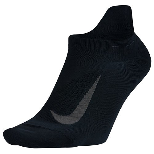 Nike Herren Elite Lightweight No-Show Laufsocken, Black/Anthracite, 8 (EU 41-43) (Schwarz Nike No-show Socken)